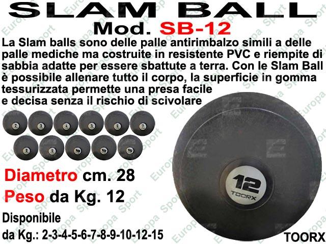 PALLA SLAM BALL ANTIRIMBALZO DIAM. CM. 28 - KG. 12  MOD. SB-12