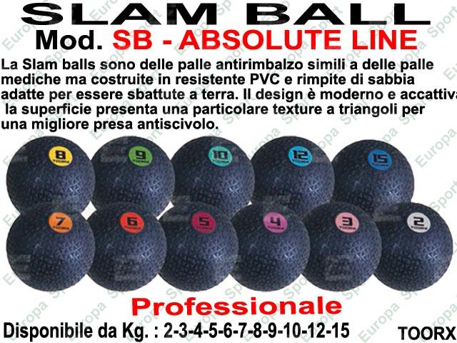 PALLA SLAM BALL ANTIRIMBALZO - ABSOLUTE LINE - TOORX  MOD. SB-AB