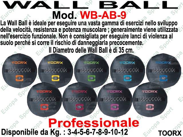 PALLA WALL BALL DIAM. CM. 35 -  KG. 9  MOD.  ABSOLUTE LINE - WB-9