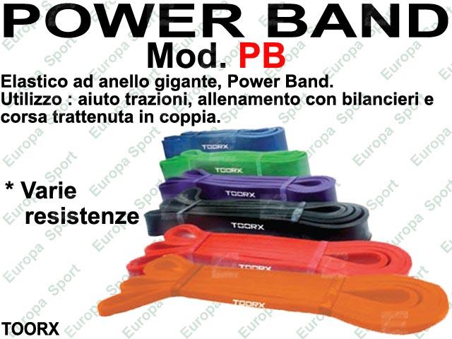 POWER BAND - ELASTICO DI RESISTENZA AD ANELLO MOD. TOORX - PB