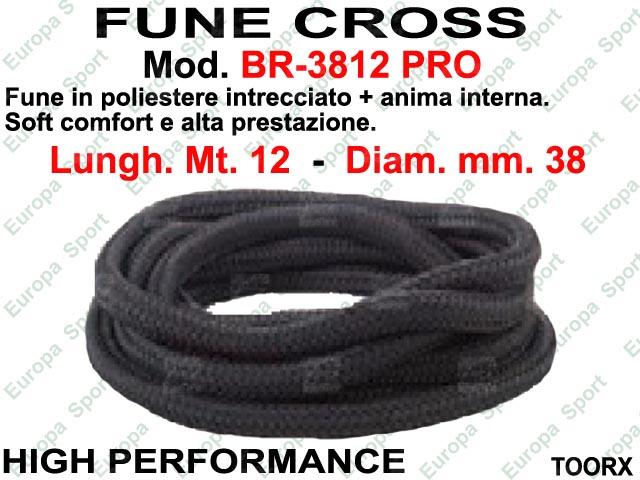 FUNE CROSS HIGH PERFORMANCE DIAM. MM. 38 - LUNGH. MT. 12 TOORX  MOD. BR-3812-PRO