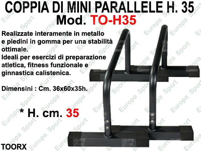 MINI PARALLELE IN METALLO H. CM. 35 TOORX  MOD. T-H35  ( 160 )