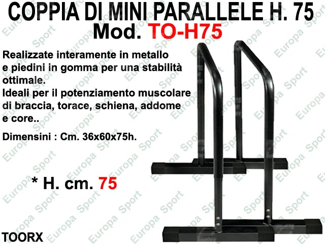 MINI PARALLELE IN METALLO H. CM. 75 TOORX  MOD. T-H75  ( 161 )