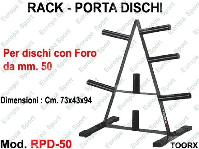 RACK - PORTA DISCHI PER  DIAM. / FORO MM. 50 TOORX  MOD. RPD-50