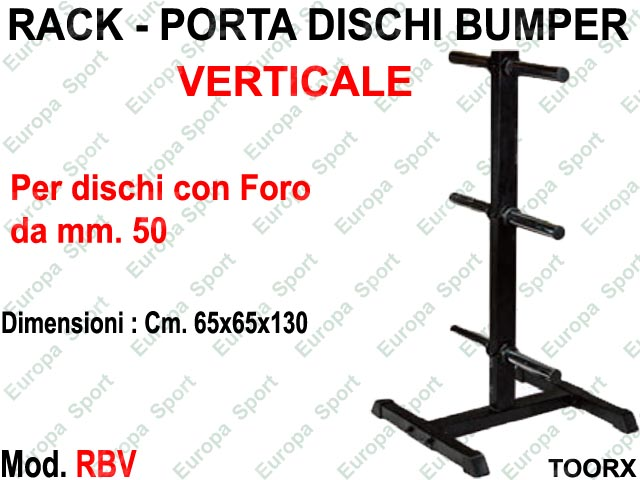 RACK - PORTA DISCHI BUMPERS VERTICALE TOORX  MOD. RBV
