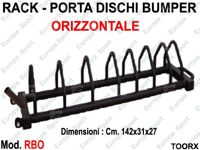 RACK - PORTA DISCHI BUMPERS ORIZZONTALE TOORX  MOD. RBO