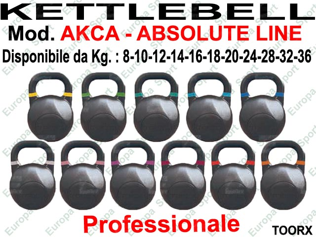 KETTLEBELL COMPETITION IN ACCIAIO - KG. 12  MOD. AKCA-12