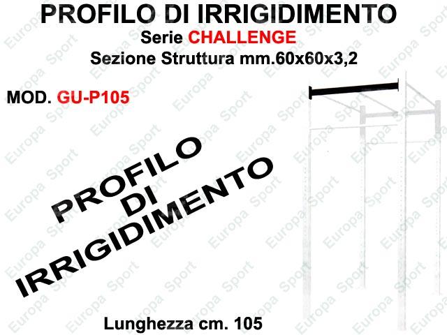PROFILO DI IRRIGIDIMENTO PER GABBIE SERIE CHALLENGE L. 105  MOD. 60GU-P105