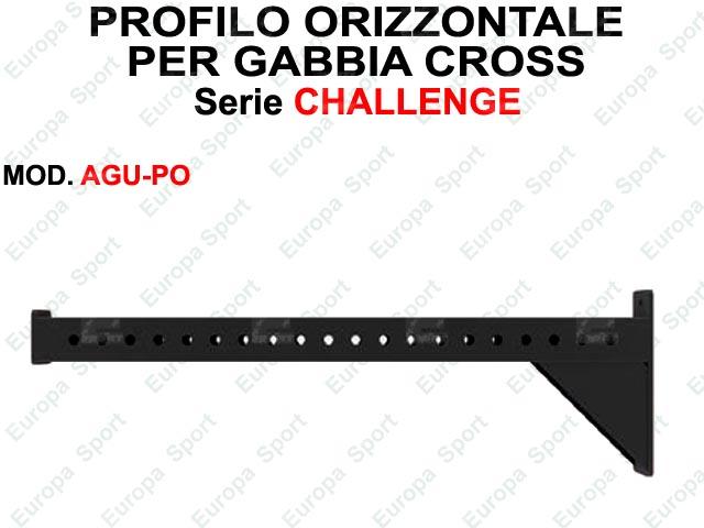 PROFILO ORIZZONTALE PER SUPPORTO ACCESSORI - SERIE CHALLENGE  MOD. AGU-PO