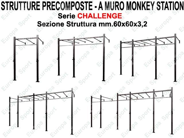 GABBIA PRECOMPOSTA A MURO MOD. CHALLENGE - G60-MMS - MONKEY STATION