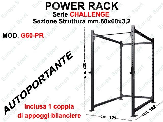 POWER RACK AUTOPORTANTE MOD. CHALLENGE - G60-PR