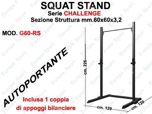 SQUAT STAND AUTOPORTANTE MOD. CHALLENGE - G60-RS