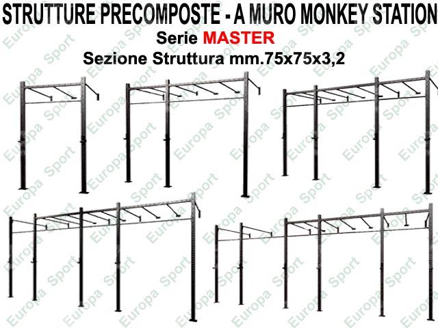 GABBIA PRECOMPOSTA A MURO MOD. MASTER - G75-MMS - MONKEY STATION