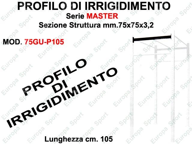 PROFILO DI IRRIGIDIMENTO PER GABBIE SERIE MASTER L. 105  MOD. 75GU-P105