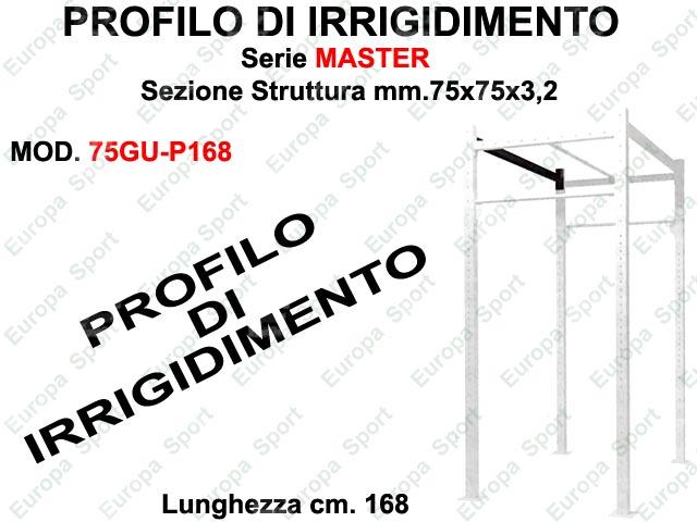 PROFILO DI IRRIGIDIMENTO PER GABBIA CROSS SERIE MASTER L. 168  MOD. 75GU-P168