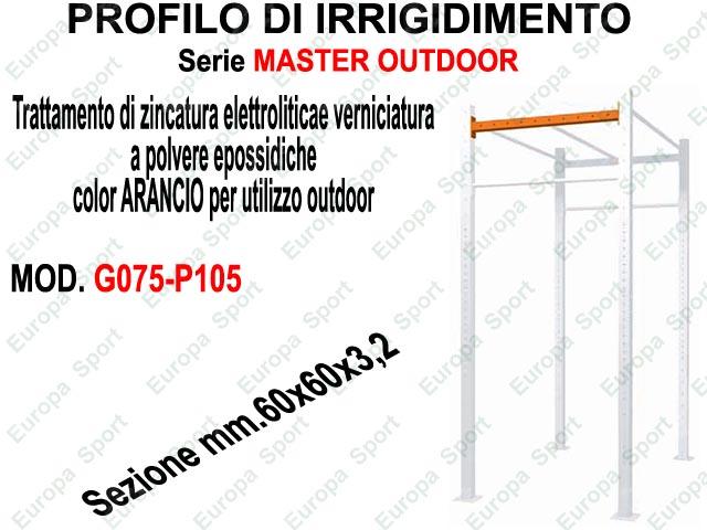 PROFILO DI IRRIGIDIMENTO - SERIE MASTER OUTDOOR  L. 105  MOD. G075-P105