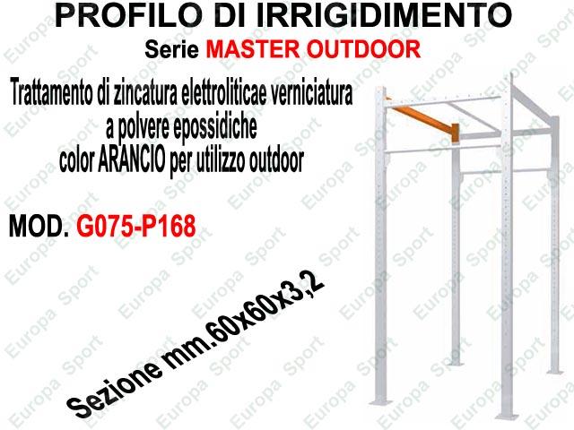 PROFILO DI IRRIGIDIMENTO - SERIE MASTER OUTDOOR L. 168  MOD. G075-P168