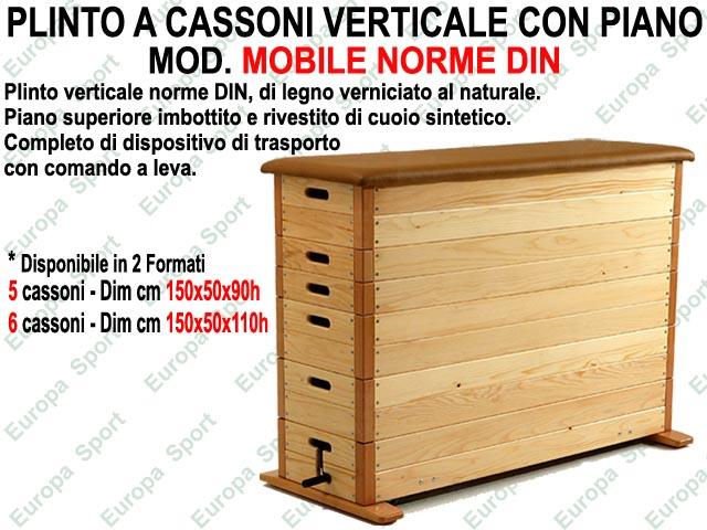 PLINTO A CASSONI VERTICALE IN LEGNO CON PIANO - MOBILE NORME DIN