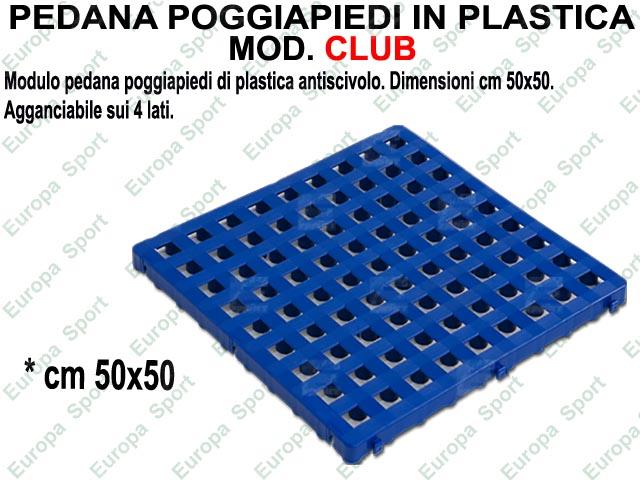 Pedane In Plastica Per Spogliatoi.Pedana Poggiapiedi A Modulo In Plastica Agganciabile Dim Cm 50x50