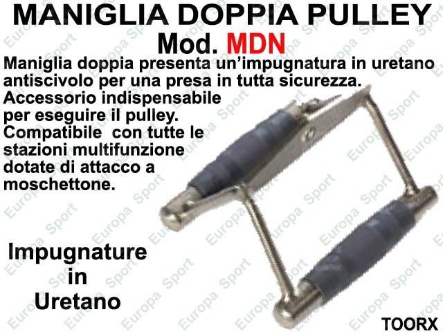 MANIGLIA DOPPIA PULLEY IMPUGNATURA IN URETANO TOORX  MOD. MDN