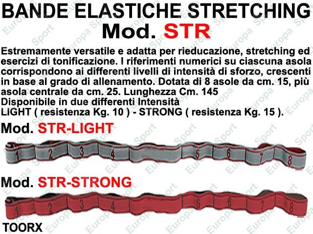 BANDA ELASTICA STRETCHING IN TESSUTO CON ASOLE TOORX  MOD. BAS - LI_ST