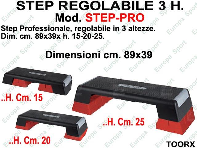 STEP REGOLABILE 3 H. TOORX  MOD. STEP-PRO