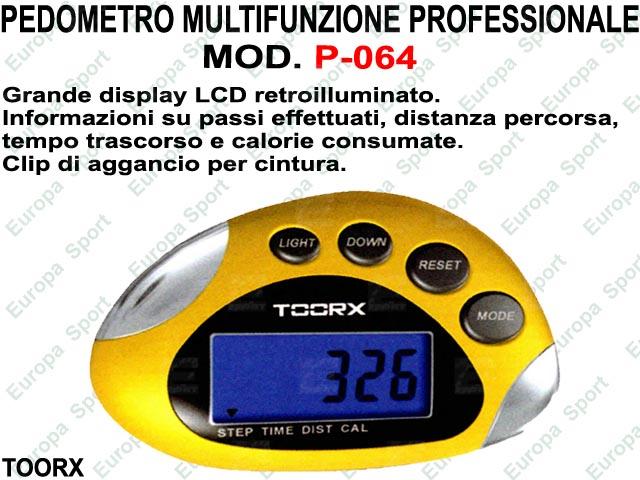 PEDOMETRO MULTIFUNZIONE PROFESSIONALE MOD. TOORX - 064