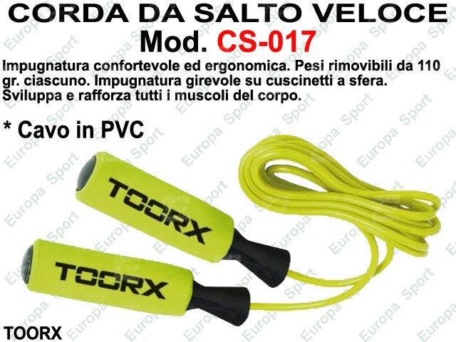 CORDA DA SALTO IN PVC CON IMPUGNATURA SOFT TOUCH TOORX  MOD. CS-017