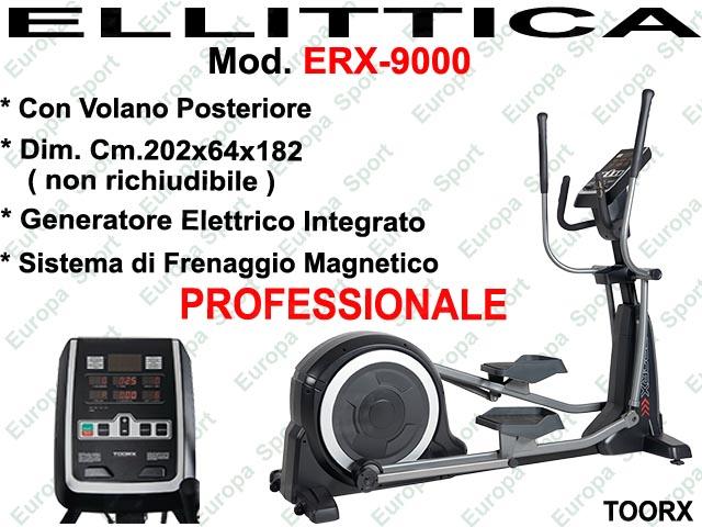 ELLITTICA CON VOLANO POSTERIORE PROFESSIONALE MOD. ERX-9000