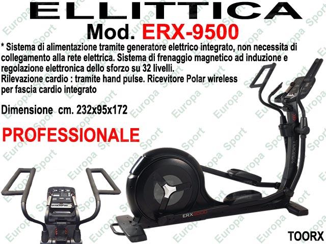 ELLITTICA CON VOLANO POSTERIORE PROFESSIONALE MOD. ERX-9500