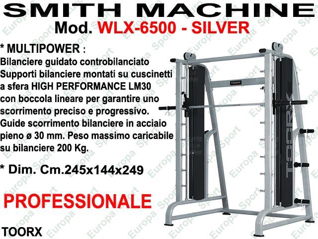SMITH MACHINE MULTIPOWER CONTROBILANCIATA MOD. WLX-6500 SILVER