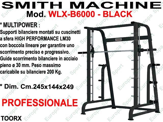 SMITH MACHINE MULTIPOWER MOD. WLX-B6000 BLACK