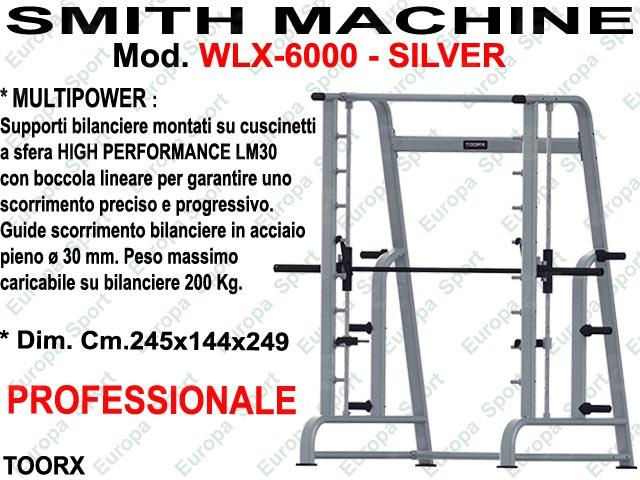 SMITH MACHINE MULTIPOWER MOD. WLX-6000 SILVER