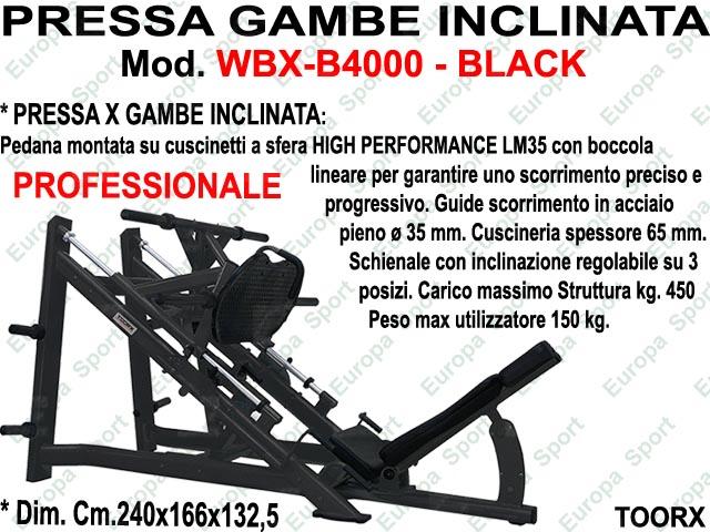 PRESSA GAMBE INCLINATA  MOD. WBX-B4000 BLACK