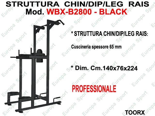 STRUTTURA CHIN/DIP/LEG  RAISE MOD. WBX-B2800 BLACK