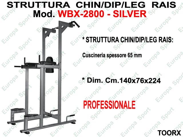 STRUTTURA CHIN/DIP/LEG  RAISE MOD. WBX-2800 SILVER