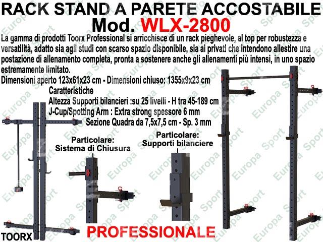 RACK STAND A PARETE ACCOSTABILE  MOD. WLX-2800