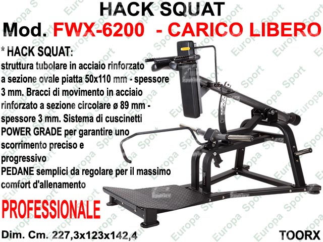 HACK SQUAT  MOD FWX-6200