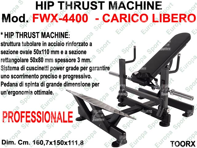 HIP THRUST MACHINE  MOD. FWX-4400