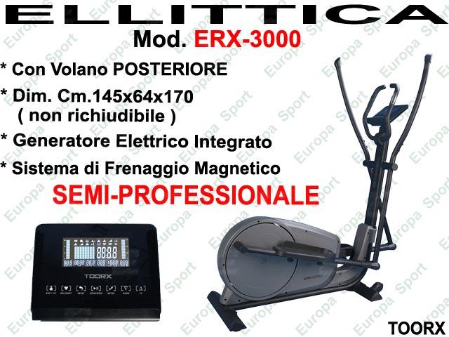 ELLITTICA CON VOLANO POSTERIORE MOD. ERX-3000