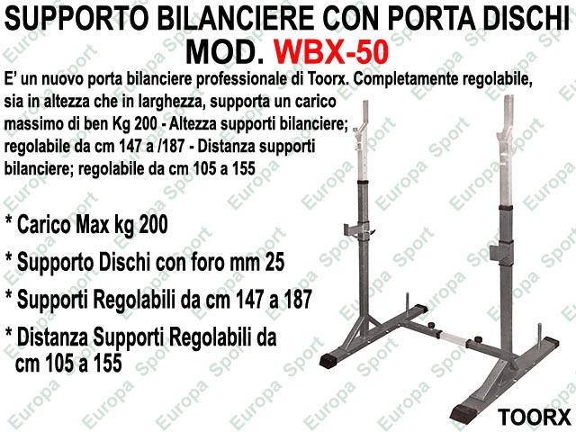 SUPPORTO BILANCIERE CON PORTA DISCHI  MOD. WBX-50