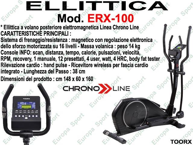 ELLITTICA HRC ELETTROMAGNETICA - CHRONO LINE  MOD. ERX-100