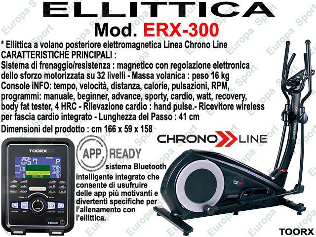 ELLITTICA HRC ELETTROMAGNETICA - CHRONO LINE  MOD. ERX-300