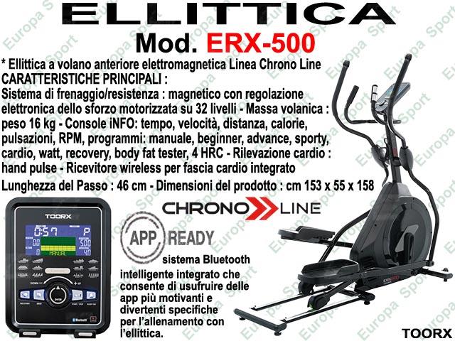 ELLITTICA HRC ELETTROMAGNETICA - CHRONO LINE  MOD. ERX-500
