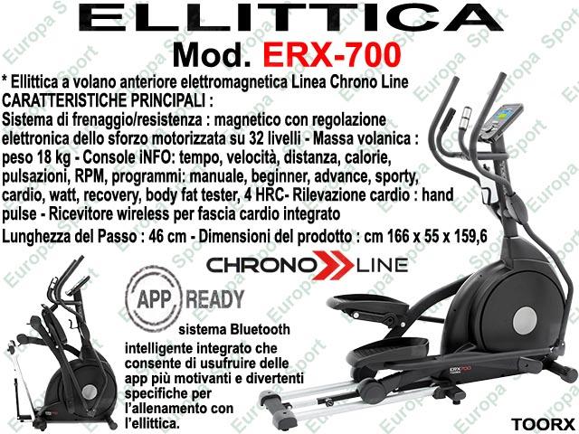 ELLITTICA HRC ELETTROMAGNETICA - CHRONO LINE  MOD. ERX-700