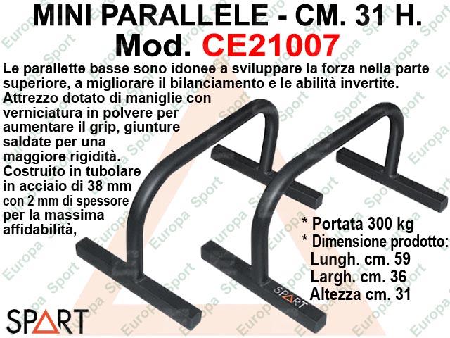 MINI PARALLELE IN METALLO H. CM. 31 - SPART -  MOD. CE21007